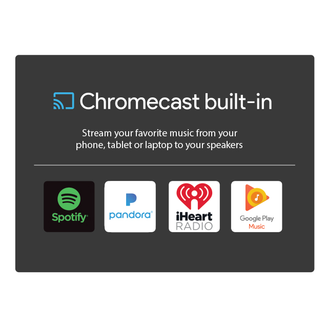 speakers with chromecast built in. free shipping to the u.s. (exclusions apply) speakers with chromecast built in